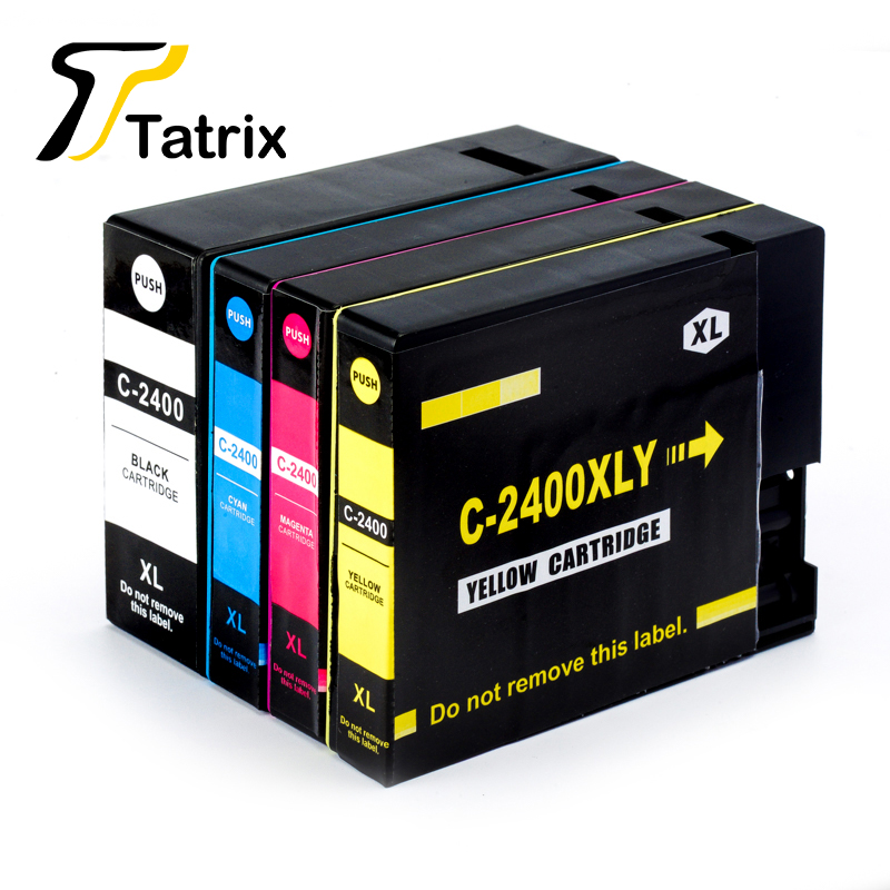 4PK Ink Cartridge For PGI-2400XL BK/C/M/Y Pigment With Chip Compatible For Canon MAXIFY iB4040 MB5040 MB5340 Printer