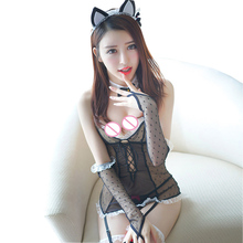 Buy Porn Babydoll Women Lingerie Sexy Hot Erotic Maid Lingerie Underwear Lenceria Sexy Costumes Cosplay Role Play Cat Girl Nightwear
