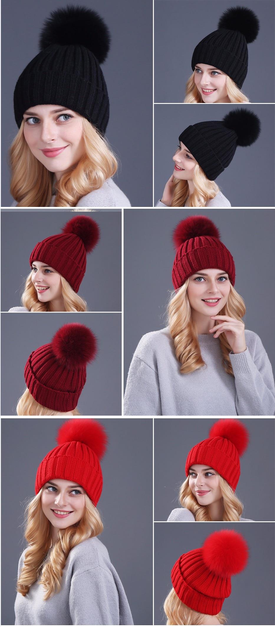 قبعات صوفية  بالوان مختلفة 10