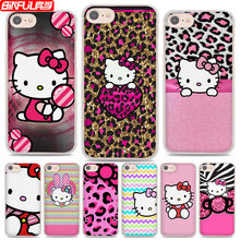 BiNFUL Hot Sale Pink Hello kitty cat style hard clear Phone Cases Cover for Apple iPhone 7 7Plus 6s 6Plus 5 5s X 8 8Plus 4s(China)