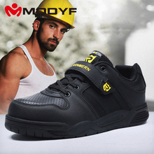MODYF Men's Safety Shoes Work 강 Toe 캡 Shoes 야외 Canvas 숨 발목 보트에 Boots(China)
