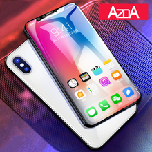 Aluminum alloy Tempered glass phone Coque For iphone X 8 6 6S 7 plus Case phone Accessories Full screen coverage 5 5S SE 5C(China)