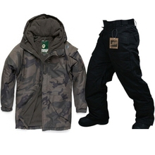 "New Edition ""Southplay"" Winter Warming Waterproof Skiing- Snowboard ( Wood Land Military Jacket +Black Pants)Sets"