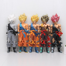 34cm Dragon Ball Z figure Son Goku Super Saiyan Master Stars Piece Grey Colorful style PVC Action Figure Collectible Model Toy
