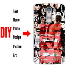 DIY Photo Name Text Customized Hard Cell Phone Case Cover Shell Coque for LG G3 G4 G5 V10 V20 G6 K3 K4 K5 K8 K10 2017 Stylus3