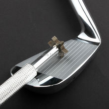 2014 New Silver Golf Iron Wedge Club Groove Sharpener Cleaning Tools Cleaner U,&V Square Grooves(China)