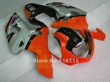 Perfect fit for SUZUKI Fairing kit GSXR 600 GSXR 750 K1 K2 2001 2002 2003 silver orange black fairings  gsxr600 gsxr750 01 02 03