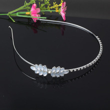 New Princess Crown Hairband Flower Sweet Headband Crown Bride Wedding Hair Holder Hair Accessories Hair Band