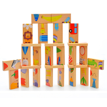 2+ Kid Toys Educational Wooden Garden Domino Puzzles Multifunction Toys exercise Balance Game Christmas Gift For Children