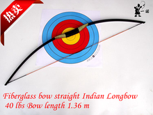 Indian fiberglass bow straight bow Longbow 40 lbs 1.36 m long epoxy fiberglass sheet production