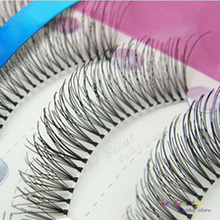 10Pair Handmade False Eyelashes Quality Fake Lash Eyelash Extension Fake Eye Lashes Make Up False Natural Lashes Tools(China)