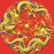 47X47cm DIY Full Drill Diamond Painting Cross Stitch Red background Chinese dragon Printed Draw Round Rhinestones Embroidery(China)