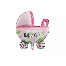 29*37cm Cute Baby Boy Baby Girl Shower Aluminium Foil Balloons Baby Shower Party Decoration Balloons Pregnancy Announcement