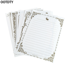 OOTDTY 8 Sheets Vintage Retro Design Writing Stationery Paper Pad Note Letter Set