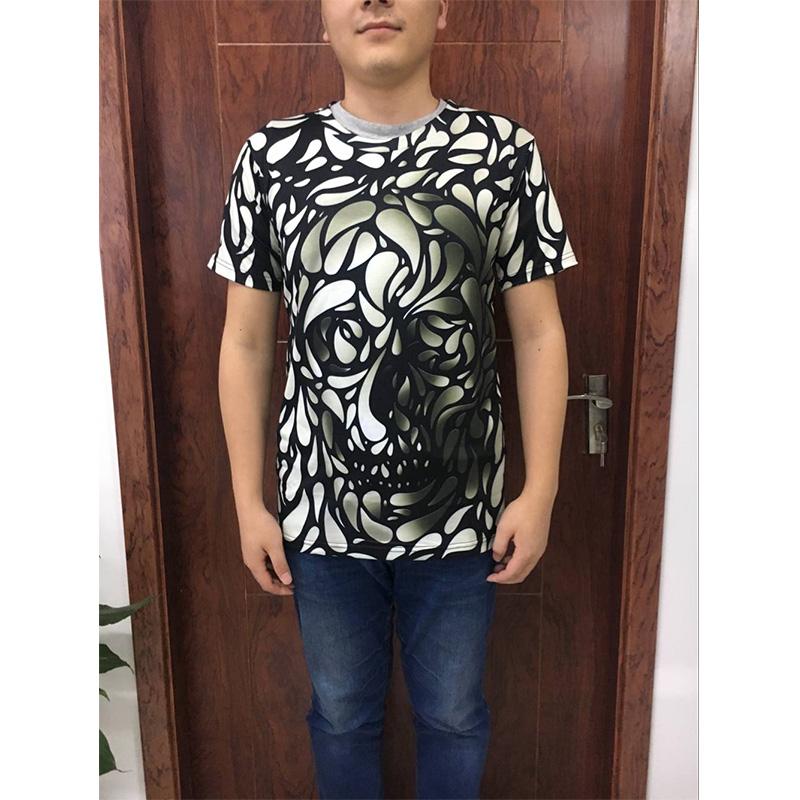 Men T shirt 17 New Fashion Brand Men's Skull 3D Printed T shirt Plus Size S-5XL Funny Print Men Clothes Camiseta Masculino 14