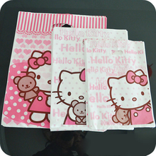 30 Pcs/Lot Wholesale Kawaii Kitty Cat Pink Plastic Bag Shopping Sundries Packaging.Lovely Gift Bags.Carrier Hand Bag.4 Size(China)