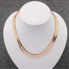 2016 Gold Filled chain Necklace Mens Chain Womens Chokers Necklace Jewelry Gift