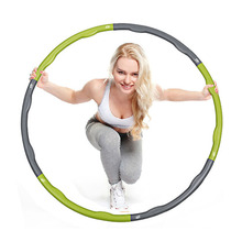 Home Fitness 0.9 KG HULA Hoop Plastic Abdominal Health Foam Massage Hula Hoop Weight Loss Equipment Thin Waist(China)