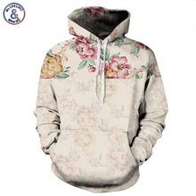 Mr.1991INC Flowers Hoodies Men/Women 3d Sweatshirts Digital Print Rosa Roses Floral Hooded Hoodies Brand Hoody Tops(China)