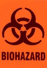BIOHAZARD ,4x5.6 inch,Self adhesive label sticker,product code PL32b, free shipping