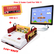 Hot Sale Video Game Console PAL Format Classical 8Bit Family TV Video Game Consoles Player With 500 In 1 Game Card Free Shipping(China)