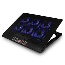 12-17 Inch USB Notebook Super Cooling Pad Laptop Radiator With 6 Mute Cooling Fans Computer Cooler Base With Touch Screen