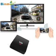 Binmer High Quality Smart TV Box Player XBMC WiFi Full 1080P HD Android 5.1 Quad Core Mini PC Drop Shipping
