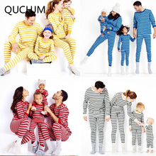 Family Matching Clothes 2017 Family Christmas Pajamas Matching Mother Daughter Clothes Father Son Mon Baby New Year Family Sets(China)