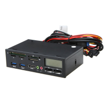 "5.25"" USB 3.0 e-SATA All-in-1 PC Media Dashboard Multi-function Front Panel Card Reader I/O Ports"