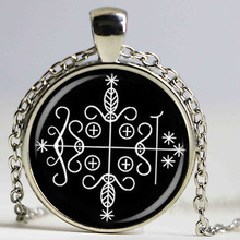 fashion papa legba voodoo pendant ritual altar pendant occult medallion pendant NECKLACE jewelry(China)