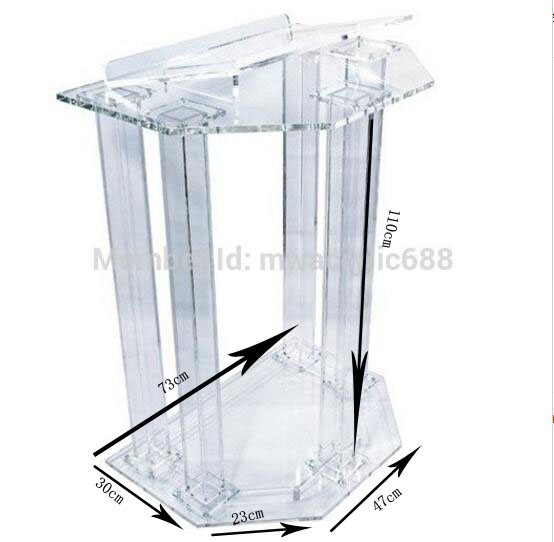 Acrylic Podiums Lecterns Pulpit Dtands Perspex Church Podium Modern Lectern Podium(China (Mainland))