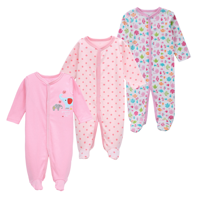 7b0d899f75ed 3 Pack Baby Girls Boy Clothes Newborn Pajamas Toddler Infant ...