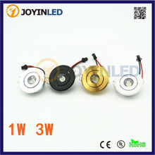 Round Dimmable Mini led spot downlight 3W White Black Silver Gold cabinet lamp AC85-265V include led driver mini lamps