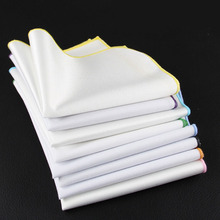 2016 Men High Quality Cotton Handkerchief Pocket Squares Vintage Pure White Color Hanky Man Prom Wedding Party Gift Accessories