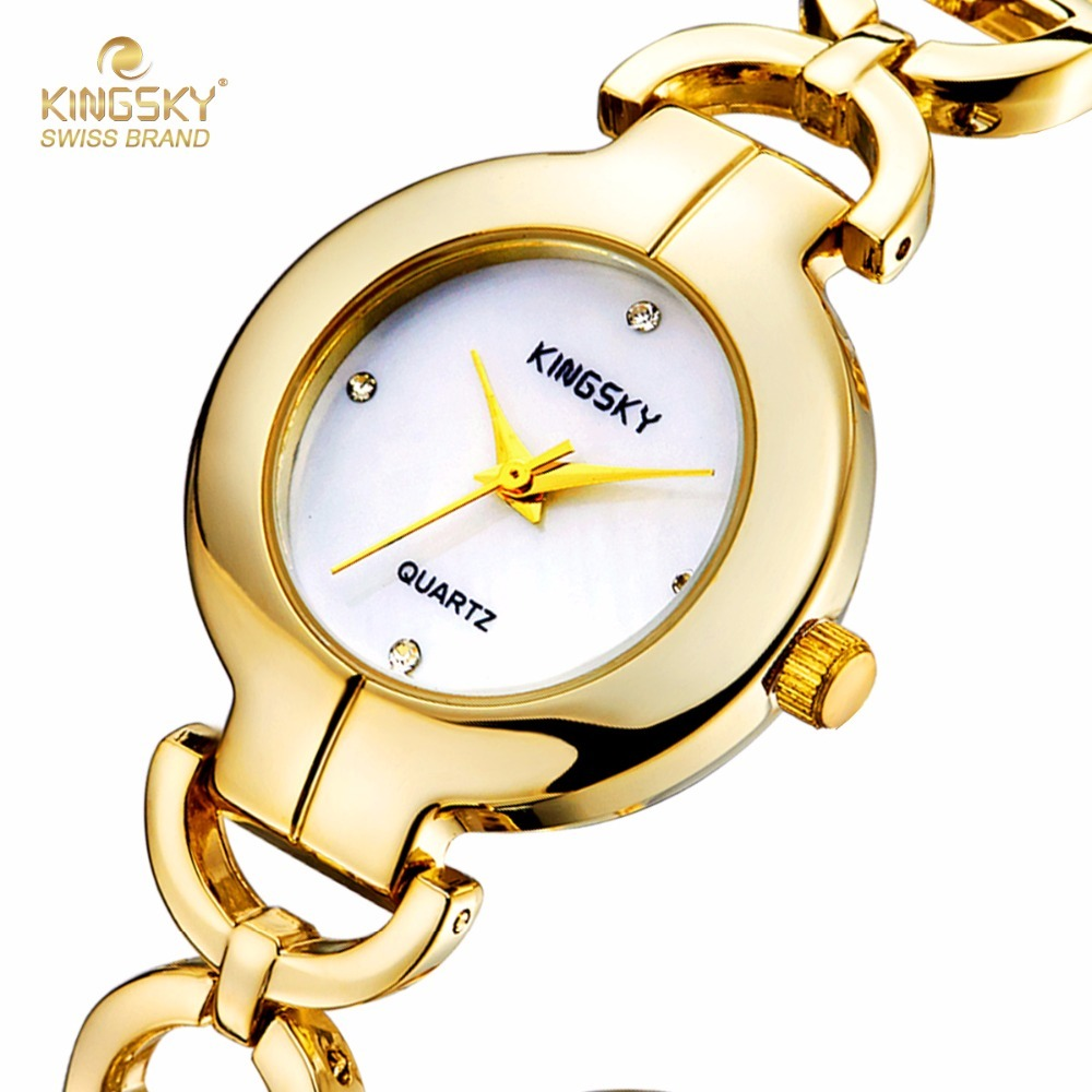 KINGSKY Ladies Quartz Wristwatch Steel Case Hot Fashion Famouse Brands Watches Analog Women Dress Watch KW-2390-2# 2017 New<br>