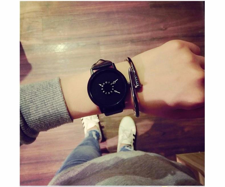 Hot fashion creative watches women men quartz-watch BGG brand unique dial design minimalist lovers' watch leather wristwatches 20