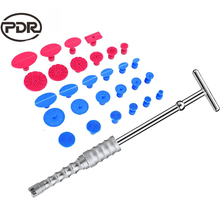 PDR Tools Kit Dent Puller Removal Car Body Repair Tool Kit Slide Hammer + 28 pcs Glue Tabs Suction Cups For Car Dents