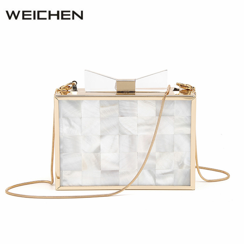 2017 Women Messenger Bag Natural Shell Patchwork Solid Acrylic Womens Crossbody Bags 2017 Summer Fashion Female Shoulder Bag<br>
