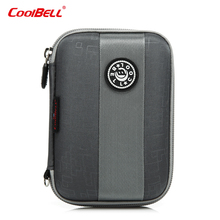 Anti-drop waterproof case hard disk 2.5 WD hard drive bag case 2.5 inch Mobile hard disk case bag multi-functional Carry pocket