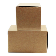 Wholesale 150 Pcs/Lot 6*6*8cm Brown Kraft Folding Birthday Party Gift Business Card Paper Pack Box Craft Cake Bakery Package Box