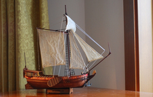 wooden model Wooden sailing boat model wood scale model1/80 Dutch royal yacht scale assembly model ship building kits updated