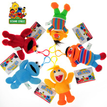 plush toy stuffed doll Sesame Street soft elmo cookie monster story model baby christmas birthday gift small pendant 5pcs/set