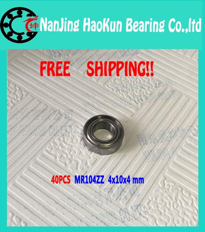 2016HOT!40psc MR104zz 4X10X4mm deep groove ball bearings 4*10*4  L-1040zz bearing free shipping<br><br>Aliexpress