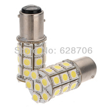 2x 1157 BAY15D P21/5W 5050 SMD 27 LED Auto Car Brake Tail Stop Light Lamp Bulb 12V Pure White