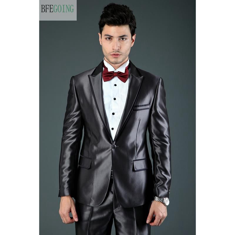 Bridegroom Tuxedos Single Breasted  Groom Suit+ Vest +Pants +Tie  For Wedding /Evening Party