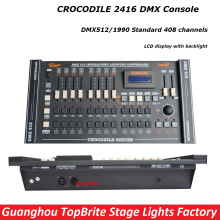 Free Shipping 1Pcs CROCODILE 2416 Disco DMX Controller DMX 512 DJ DMX Console Equipment For Stage Party Wedding Event Lighting