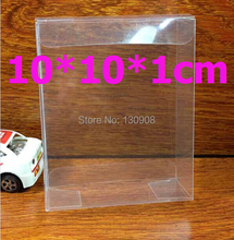 Joy size 10*10*1cm Free shipping clear plastic gift box,  transparent Clear box for gift packaging