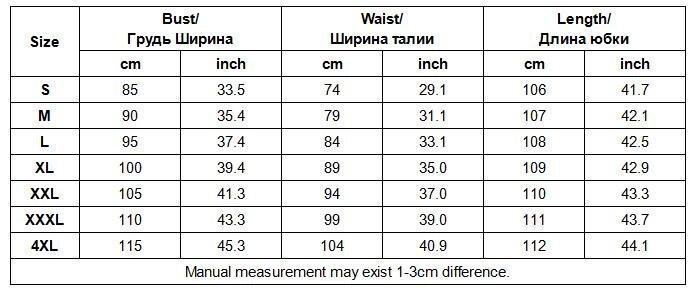 LSYCDS064 size chart