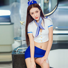 Buy Sexy Stewardess Cosplay Costumes Role play costumes Stewardess Uniform Lingerie Sexy Hot Erotic
