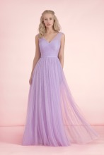 Long Dresses For Wedding Guests Graceful Lavender Bridesmaid Dresses Floor Length A-Line Girls Party Dress Summer Style